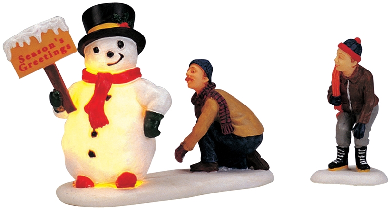 Frosty's Friendly Greeting, Set Of 2 Lemax Village