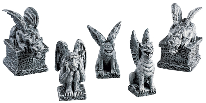 Gargoyles, Set Of 5 Lemax Village