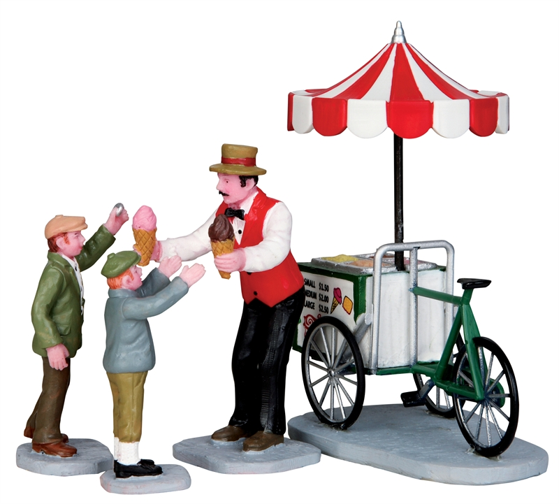 Gelato Cart, Set Of 4 Lemax Village