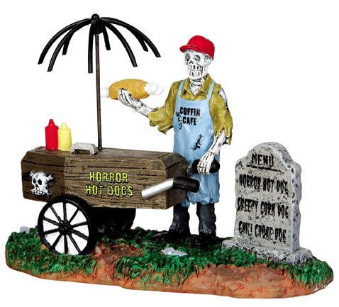 Ghoul Hot Dog Vendor Lemax Village