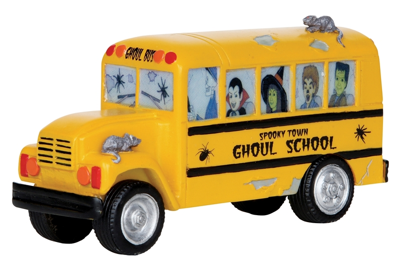 Ghoul School Bus Lemax Village