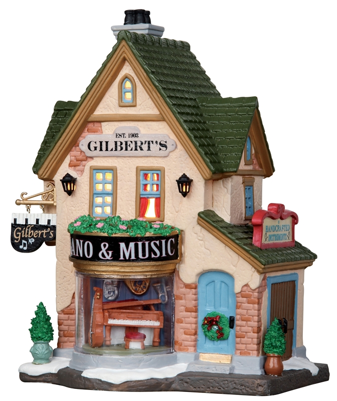 Gilbert's Piano & Music Store Lemax Village