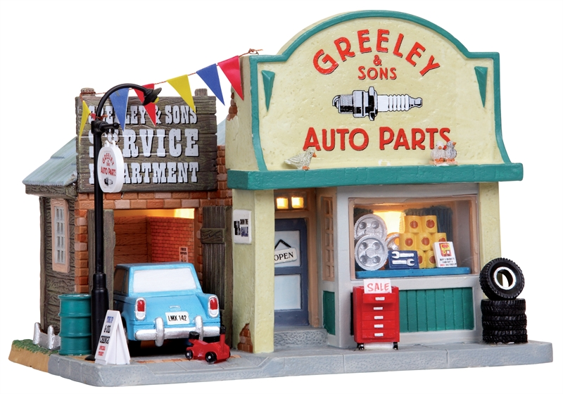 Greeley & Sons Auto Parts Lemax Village