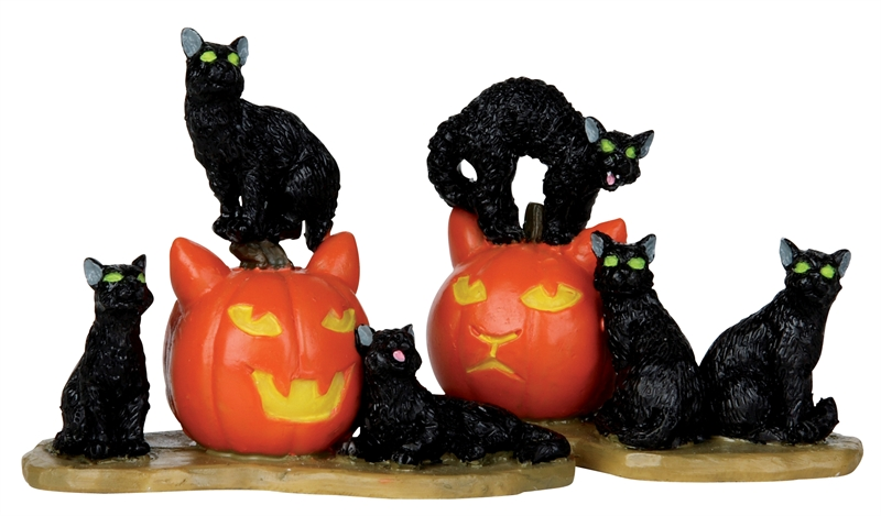 Halloween Cats, Set Of 2 Lemax Village