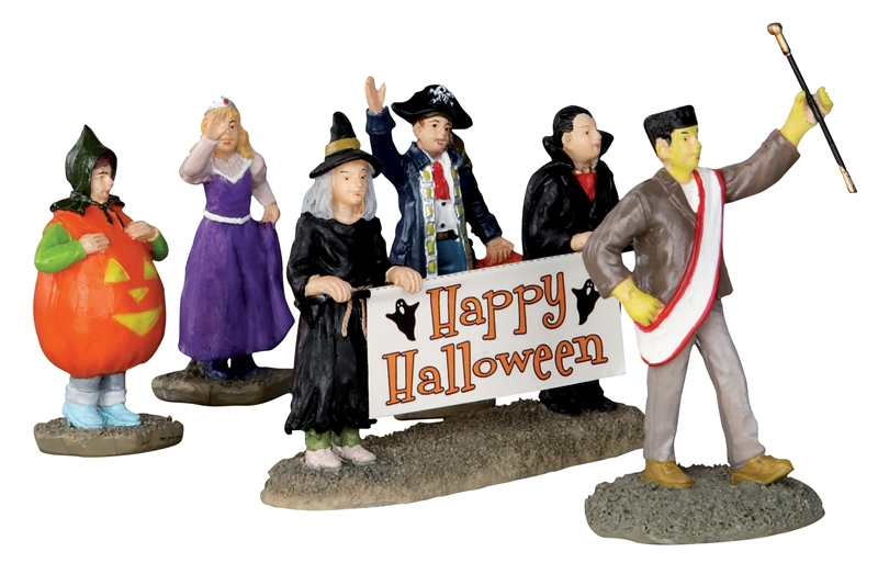 Halloween Parade Banner, Set Of 5 Lemax Village