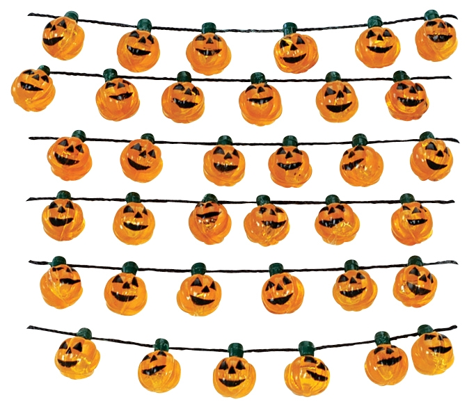 Halloween Pumpkin Garland Lemax Village
