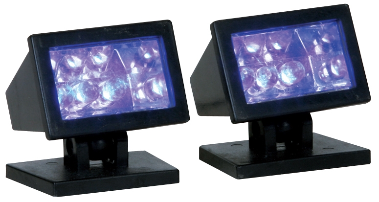 Halloween Purple Light, Set Of 2 Lemax Village