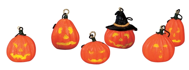 Halloween Tree Decoration, Set Of 6 Lemax Village