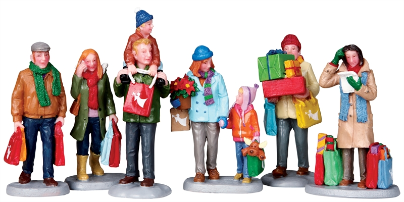 Holiday Shoppers, Set Of 6 Lemax Village