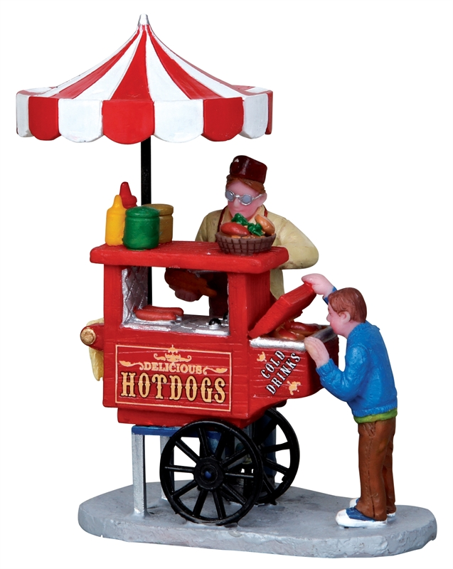 Hot Dog Cart Lemax Village