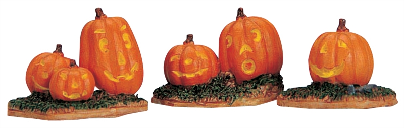 Jack-o-lanterns, Set Of 3 Lemax Village