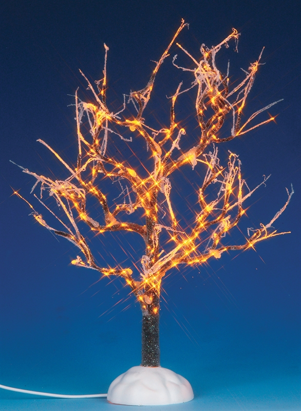 Lighted Ice Glazed Tree, Clear Lemax Village