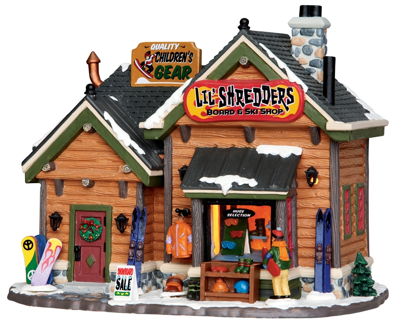 Lil' Shredders Board & Ski Shop Lemax Village