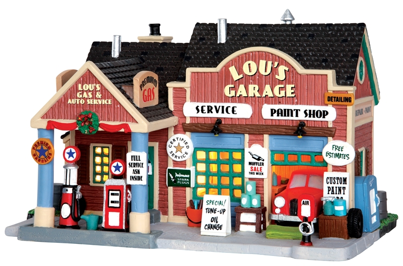 Lou's Garage Lemax Village