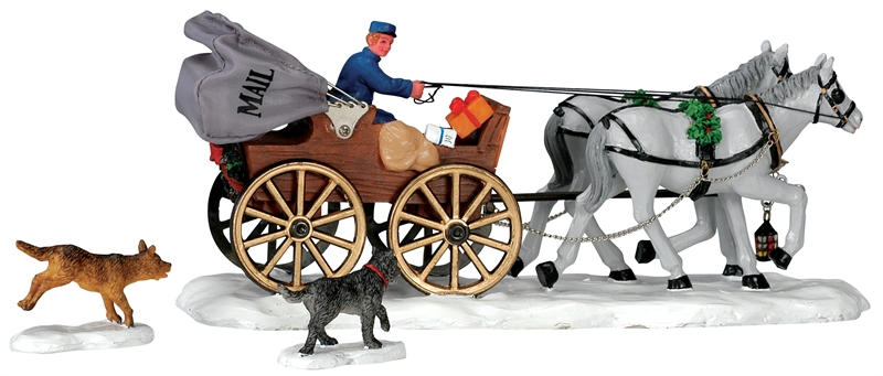 Mail Carriage, Set Of 3 Lemax Village