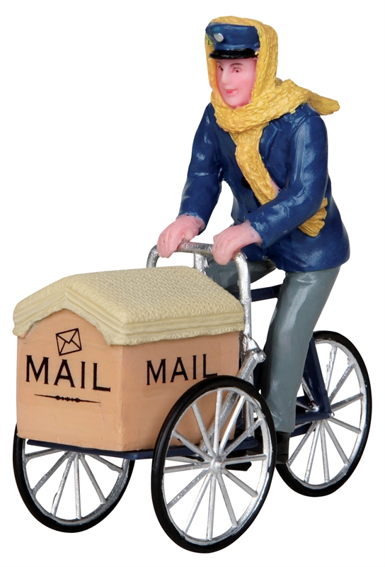 Mail Delivery Cycle Lemax Village