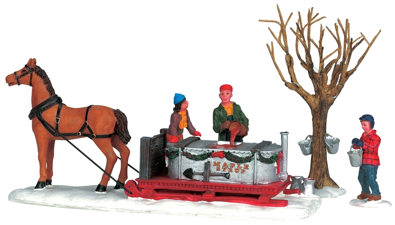 Maple Syrup Sled, Set Of 3 Lemax Village