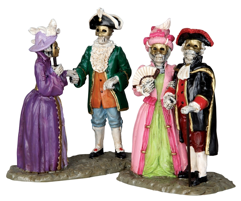 Masquerade Ball, Set Of 2 Lemax Village