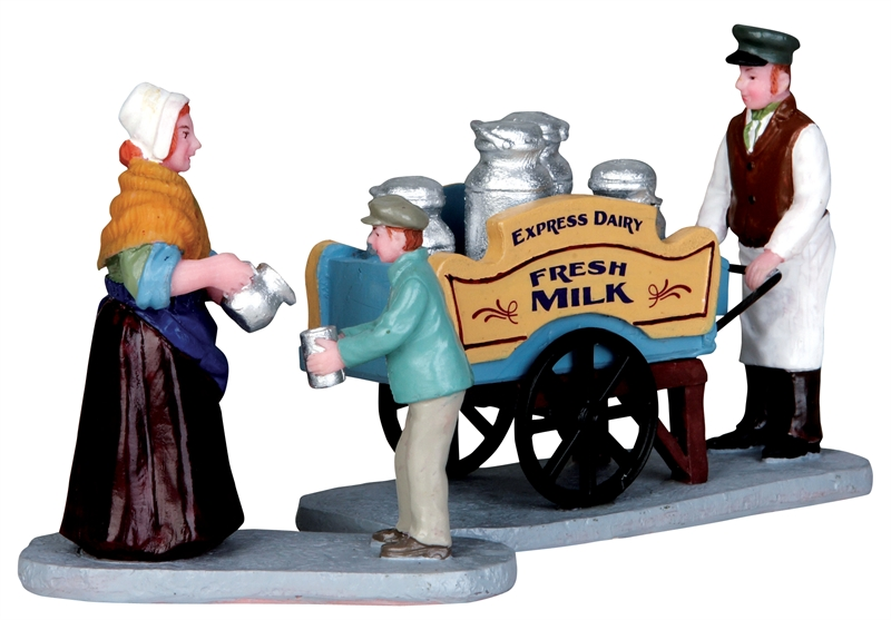 Milk Vendor, Set Of 2 Lemax Village