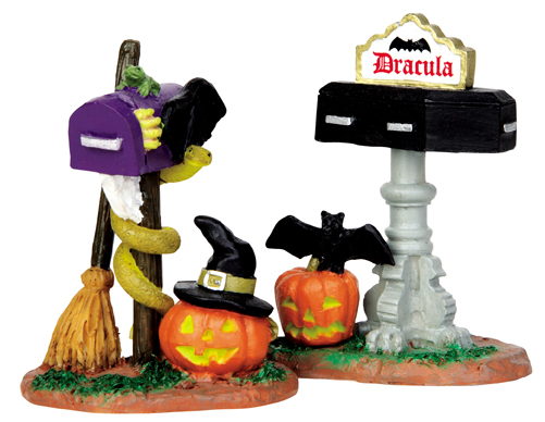 Monster Mailboxes, Set Of 2 Lemax Village