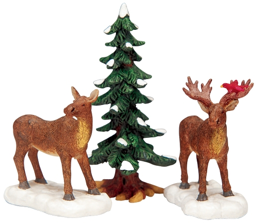 Mr. And Mrs. Moose, Set Of 3 Lemax Village