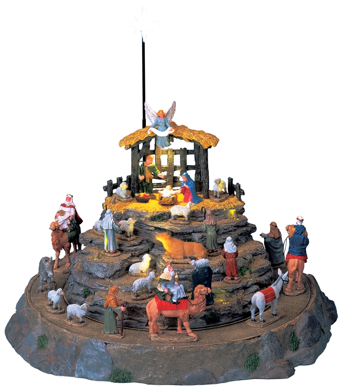 Nativity Scene, Set Of 25 Lemax Village