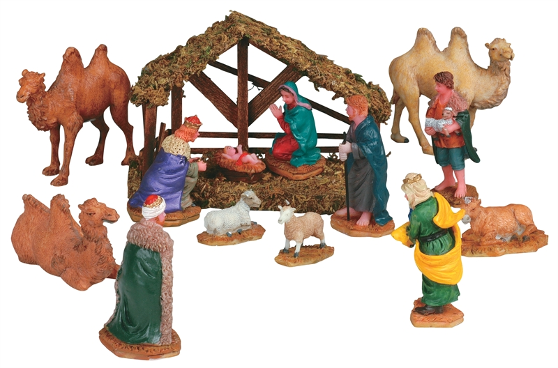 Nativity, Set Of 14 Lemax Village