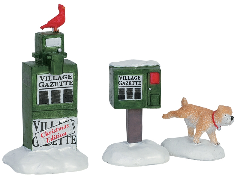 Newspaper Box, Set Of 3 Lemax Village