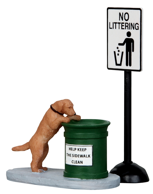 No Littering, Set Of 2 Lemax Village