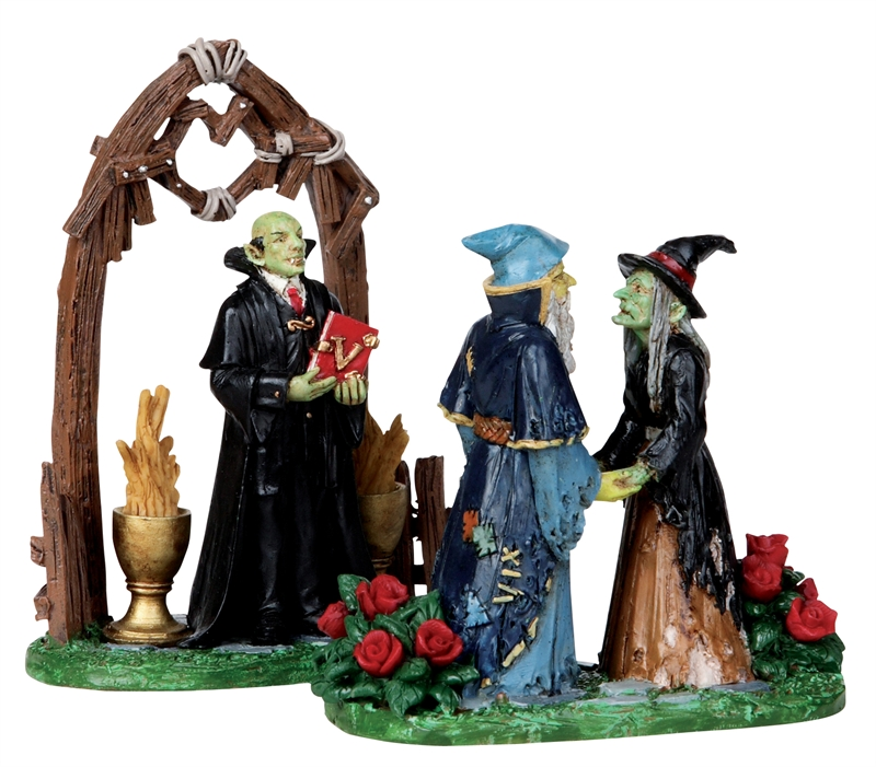 Nocturnal Nuptials, Set Of 2 Lemax Village