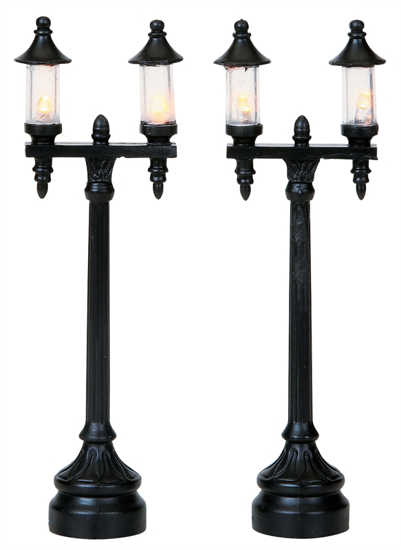Olde Town Steet Lamp, Set Of 2 Lemax Village