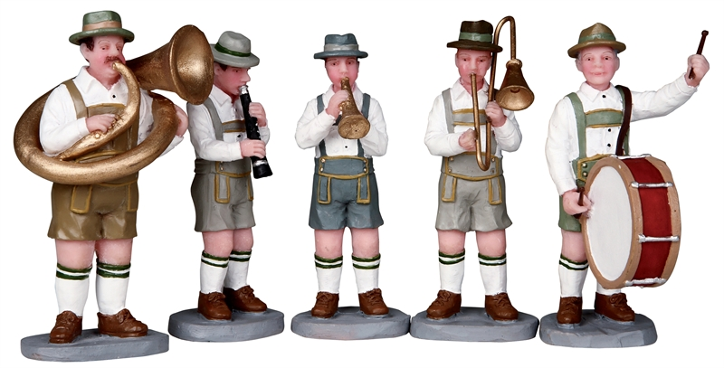 Oom Pah Band, Set Of 5 Lemax Village