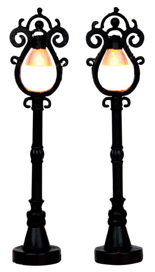 Parisian Street Lamp  Set Of 2 Lemax Village