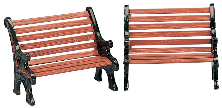 Park Bench, Set Of 2 Lemax Village