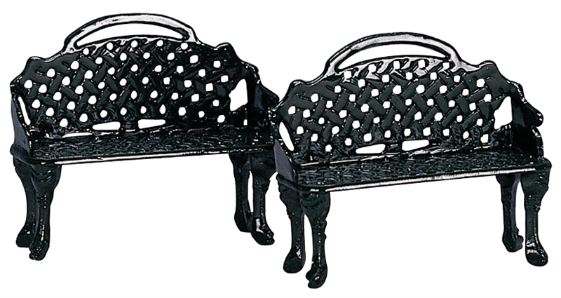 Patio Bench, Set Of 2 Lemax Village