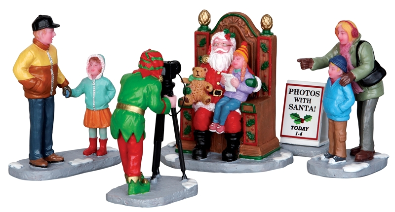 Photos With Santa, Set Of 5 Lemax Village