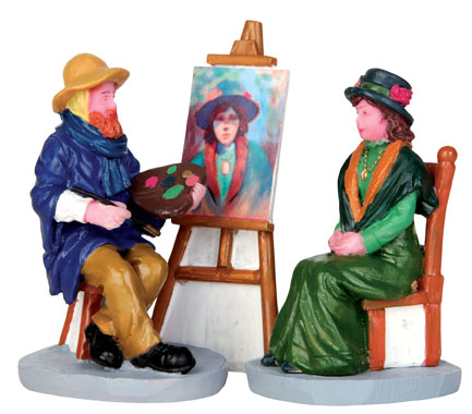 Plein Air Portrait  Set Of 3 Lemax Village