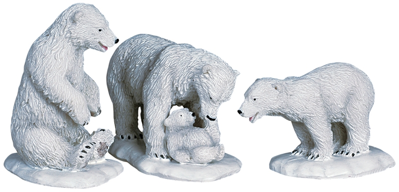 Polar Bears, Set Of 3 Lemax Village