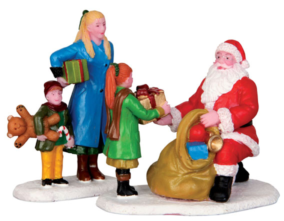 Presents From Santa  Set Of 2 Lemax Village
