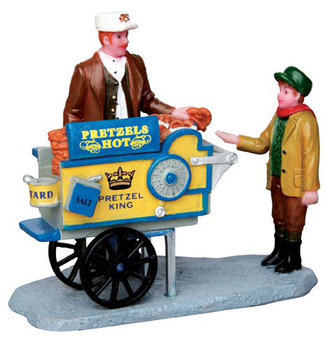 Pretzel King Pretzel Cart Lemax Village