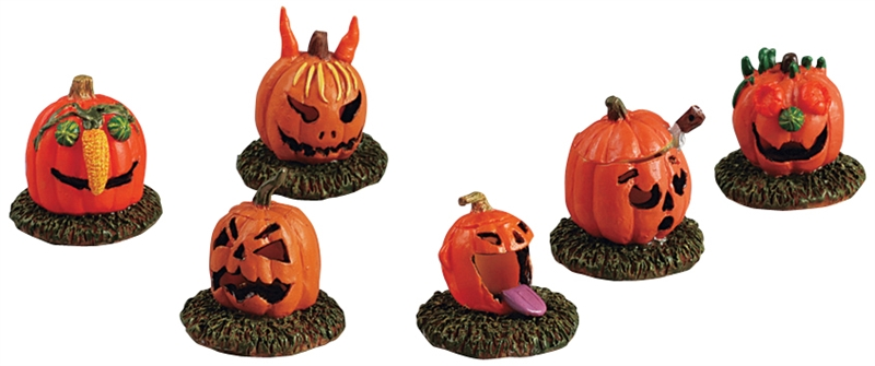 Pumpkin People, Set Of 6 Lemax Village