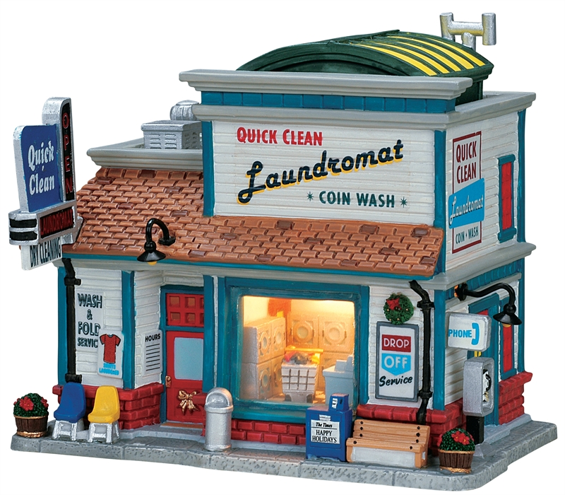 Quick Clean Laundromat Lemax Village