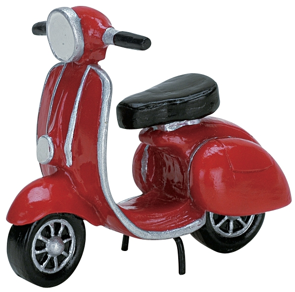 Red Moped Lemax Village