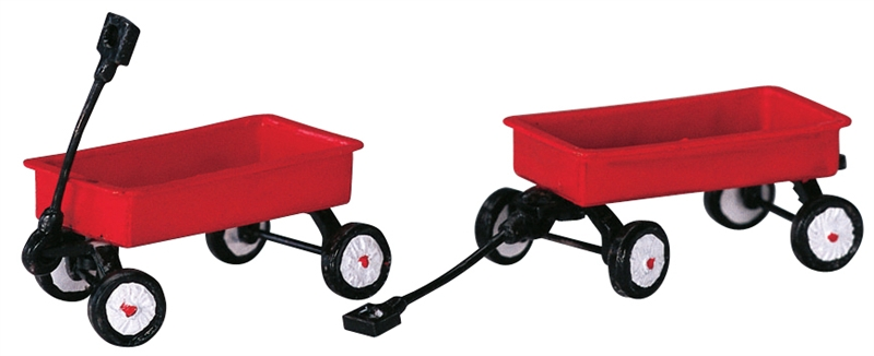 Red Wagons, Set Of 2 Lemax Village