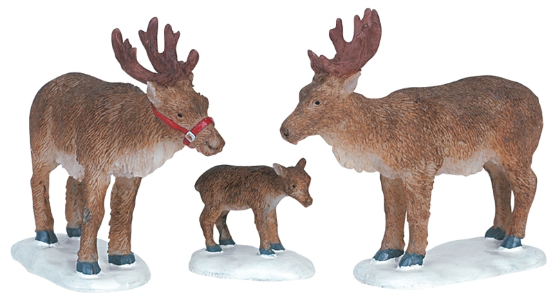 Reindeer, Set Of 3 Lemax Village