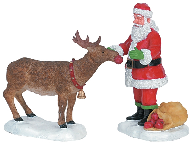 Reindeer Treats, Set Of 2 Lemax Village