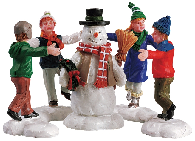 Ring Around The Snowman, Set Of 3 Lemax Village