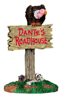 Roadhouse Sign Lemax Village