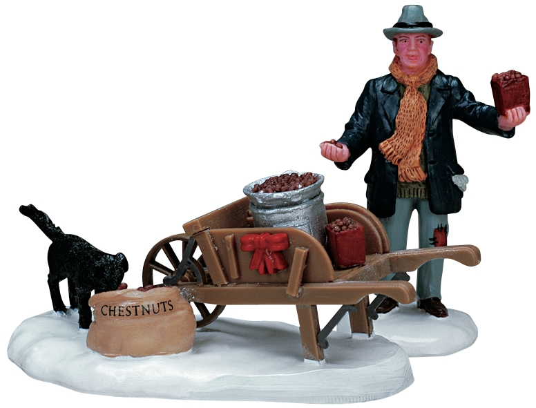 Roasted Chestnut Vendor, Set Of 2 Lemax Village