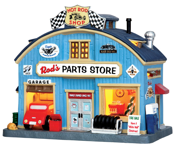Rod's Parts Store Lemax Village